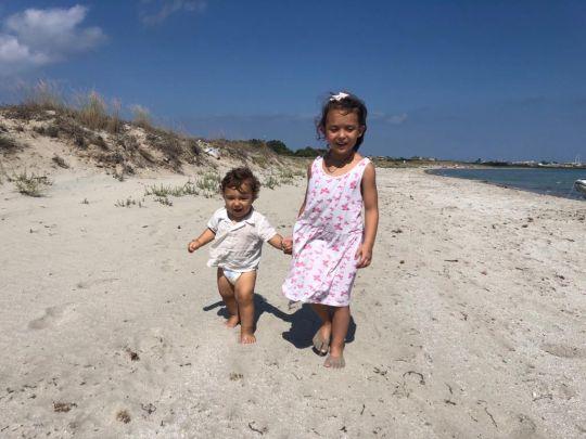 Les enfants à la plage