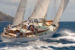 Stromvogel, Segelboot aus dem Film Calme Blanc