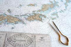 Druck in A0 auf Spezialpapier ' Poster ' einer Karte der Jungferninseln.