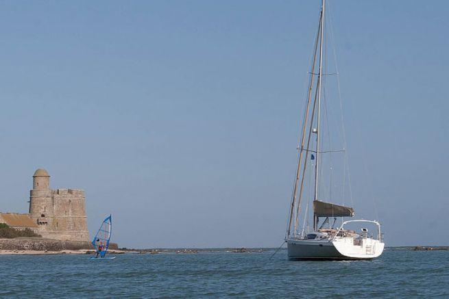Verankerung, ein Sicherheitselement in einem Boot